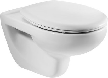 Керамический подвесной унитаз с горизонтальным выпуском, белый Roca VICTORIA 34630300R