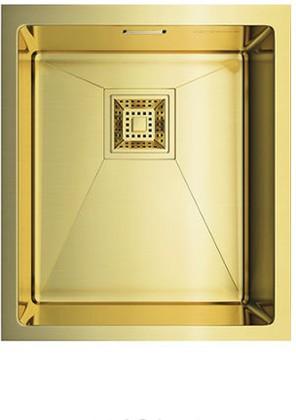 Кухонная мойка без крыла, нержавеющая сталь, золото Omoikiri Akisame 38-U-LG 4993092