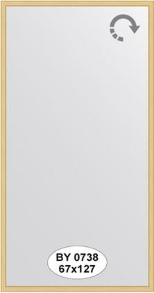 Зеркало 67x127см в багетной раме сосна Evoform BY 0738