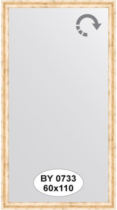 Зеркало 60x110см в багетной раме красная бронза Evoform BY 0733