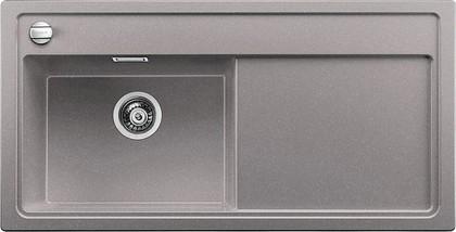 Кухонная мойка чаша слева, крыло справа, с клапаном-автоматом, гранит, алюметаллик Blanco ZENAR XL 6 S 519283