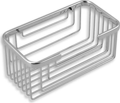 Полка для ванной прямоугольная глубокая 9х11х20см Novaservis 6077.0