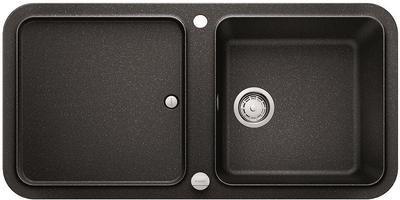 Кухонная мойка оборачиваемая с крылом, с клапаном-автоматом, гранит, антрацит Blanco YOVA XL 6 S 519583