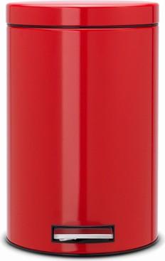 Мусорный бак с педалью 12л, пламенно-красный Brabantia 105982
