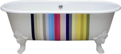 Овальная чугунная ванна с декором 175x80см, Antislip Jacob Delafon CLEO E2909-00