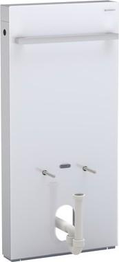 Сантехнический модуль (инсталляция) для установки напольного или подвесного биде, белое стекло / алюминий Geberit MONOLITH 131.030.SI.1