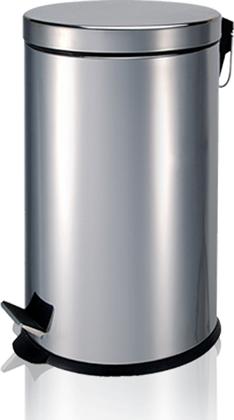 Ведро для мусора с педалью 12л, глянцевый металл LOSDI MP-0612I