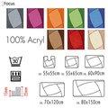 Размеры, цвета и формы ковриков для ванны и туалета от Spirella коллекции Focus