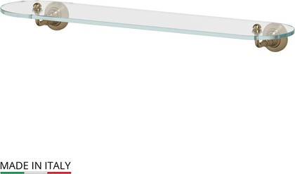 Полка для ванной стеклянная 60см, бронза 3SC STI 515