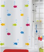 Штора для ванны 180x200см текстильная мультиколор Spirella BERMUDA 1008182