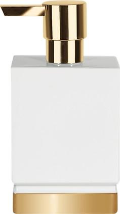Ёмкость для жидкого мыла керамическая, белый/золото Spirella ROMA 1017977
