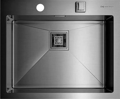 Кухонная мойка без крыла, нержавеющая вороненая сталь Omoikiri Akisame 59-GM 4993096