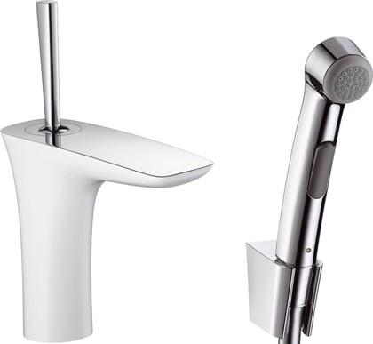 Смеситель для раковины с гигиеническим душем, белый / хром Hansgrohe PuraVida 15275400
