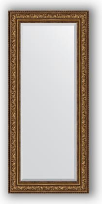 Зеркало с фацетом в багетной раме 70x160см виньетка состаренная бронза 109мм Evoform BY 3583