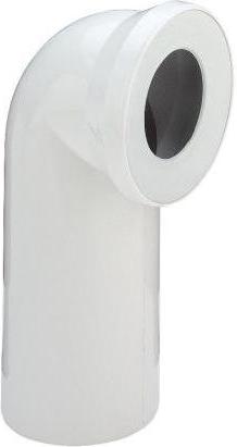 Соединительный белый пластиковый патрубок 90° для унитаза, 230мм Viega 100551