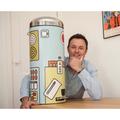 Высокий мусорный бак 30л с педалью, MotionControl, рисунок Pop Kitchen Brabantia RETRO BIN 482144