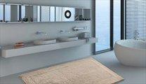 Коврик двухсторонний для ванной 60x100см светло-бежевый Grund LUXOR 2625.16.7221