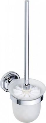 Туалетный ёрш настенный в стеклянной подставке 360мм, хром, Bemeta 144313012