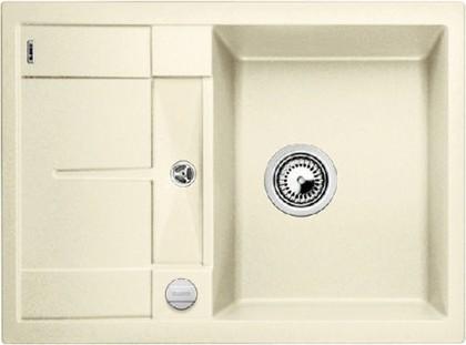 Кухонная мойка оборачиваемая с крылом, с клапаном-автоматом, гранит, жасмин Blanco METRA 45 S Compact 519577