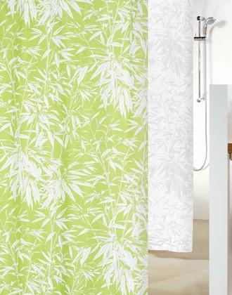 Штора для ванны 240x180 текстильная зелёная Spirella BALI 1011642