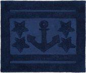 Коврик для ванной комнаты хлопковый 55x65см синий Spirella ANCHOR STAR 1017659