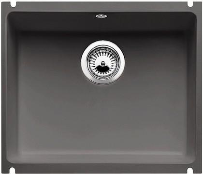 Кухонная мойка без крыла, с клапаном-автоматом, керамика, базальт Blanco SUBLINE 500-U PuraPlus 516975