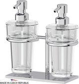 Дозаторы для жидкого мыла настольные хрусталь/хром Ellux DOM 003/ELU 003