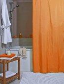 Штора для ванной комнаты 180x200см текстильная оранжевая Spirella ATLAS 4005714
