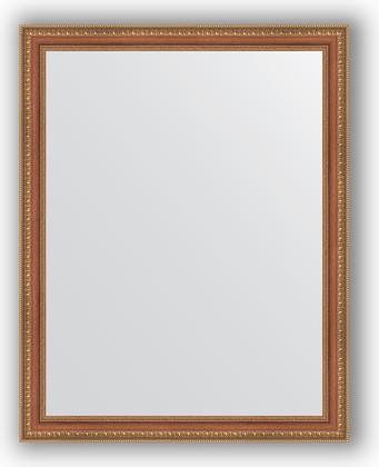 Зеркало в багетной раме 75x95см бронзовые бусы на дереве 60мм Evoform BY 3267