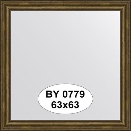 Зеркало 63x63см в багетной раме сухой тростник Evoform BY 0779