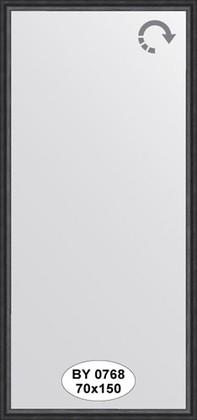 Зеркало 70x150см в багетной раме дуб чёрный Evoform BY 0768
