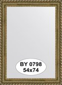 Зеркало 54x74см в багетной раме золотой акведук Evoform BY 0798