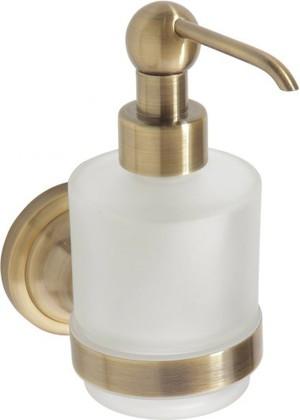 Дозатор жидкого мыла настенный MINI, бронза-матовое стекло, Bemeta 144109107
