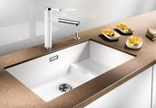 Кухонная мойка без крыла, с клапаном-автоматом, гранит, кофе Blanco SUBLINE 700-U Level 518398