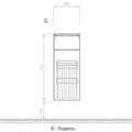 Шкаф средний подвесной, 1 ящик, 1 корзина 30x34x72см Verona Urban UR401