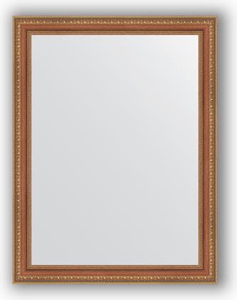 Зеркало в багетной раме 65x85см бронзовые бусы на дереве 60мм Evoform BY 3171