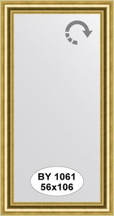 Зеркало 56x106см в багетной раме старое золото Evoform BY 1061