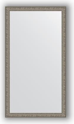 Зеркало в багетной раме 74x134см виньетка состаренное серебро 56мм Evoform BY 3296