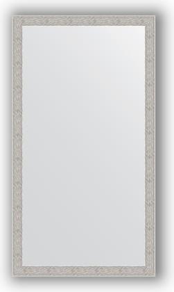 Зеркало в багетной раме 61x111см волна алюминий 46мм Evoform BY 3198