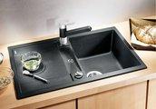 Кухонная мойка оборачиваемая с крылом, с клапаном-автоматом, гранит, шампань Blanco METRA 45 S Compact 513932