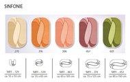 Размеры, формы и цвета ковриков для ванны и туалета Kleine Wolke из коллекции Sinfonie