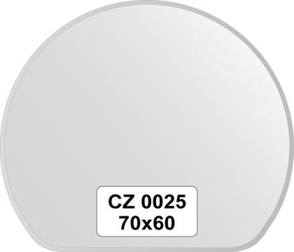 Зеркало для ванной 70x60см с фацетом 10мм FBS CZ 0025