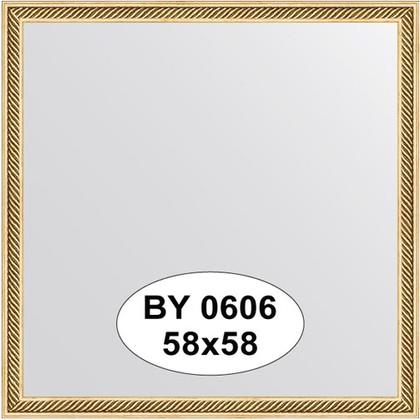 Зеркало 58x58см в багетной раме витое золото Evoform BY 0606