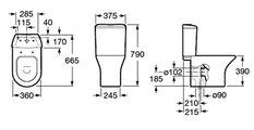 Чаша напольного унитаза, выпуск вертикальный Roca NEXO 342640000