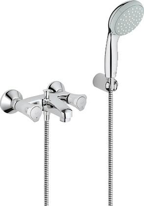 Смеситель вентильный для ванны с изливом и душевым гарнитуром, хром Grohe COSTA L 25460001