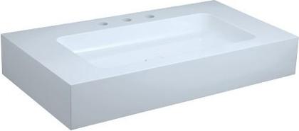 Умывальник из минерального литья для смесителей на 3 отверстия, 950x525мм Keuco EDITION 300 30380310003