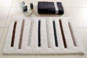 Коврик для ванной комнаты хлопковый 50x120см Spirella TRACES 4006907