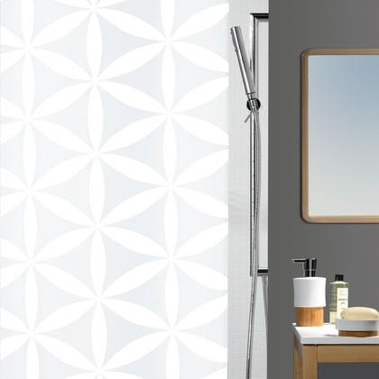 Штора для ванны 180x200см текстильная белая Spirella RANIA 1010418