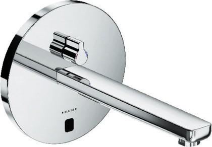 Смеситель для умывальника электронный с рычагом регулировки температуры и без встраиваемого механизма, хром Kludi ZENTA 3840105
