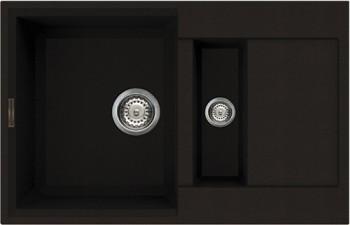 Кухонная мойка оборачиваемая с крылом, гранит, тёмный шоколад Omoikiri Sakaime 78-2-DC 4993198